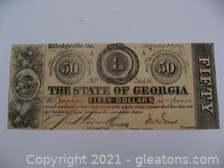 Extremely Rare 1863 $50 Note