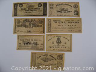 Novelty Confederate Notes