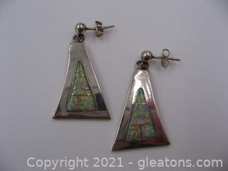 Jimmy Secatero Navajo Sterling Silver Earrings