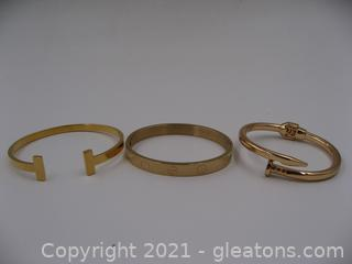 Set of 3 Costume Bracelets