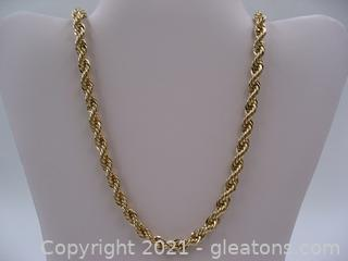 Gold Toned Rope Chain