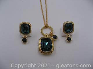 Imitation Sapphire Jewelry Set