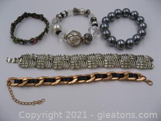 Lot of 5 Costume Bracelets