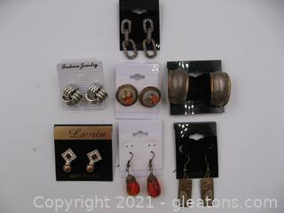Costume Earring Lot