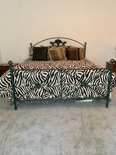 King Hand Forged Iron Bed