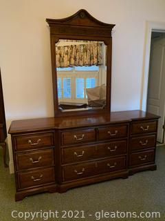 10 Drawer Century Dresser with Mirror (2nd floor)