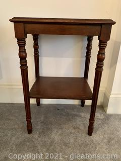 Mahogany Two-Tier End Table