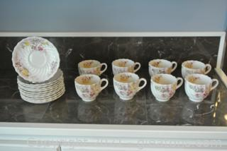 """Spode """"Fairy Dell"""" Teacups & Saucers (Lot of 19)"""
