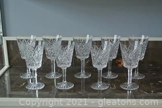 Tyrone Irish Crystal Water/Wine Glasses (Lot of 9)