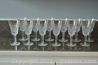 Tyrone Irish Crystal Wine Glasses (Lot of 12)
