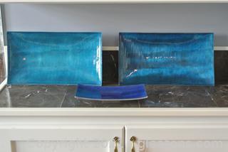 Decorative Argent Orfevres Rectangular Trays (Lot of 3)