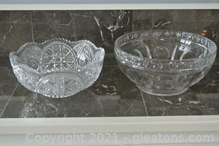Set of Cut Glass Bowls (Lot of 2)