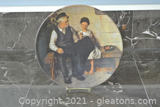 """Edwin Knowles Norman Rockwell Plate """"The Lighthouse Keeper's Daughter"""""""