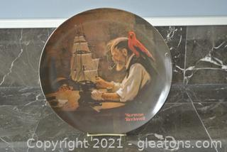 """Edwin Knowles Norman Rockwell Plate """"The Ship Builder"""""""
