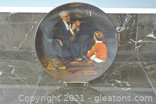 """Edwin Knowles Norman Rockwell Plate """"The Tycoon"""""""