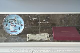 "P. Buckley Moss Plate ""The Snowman"""