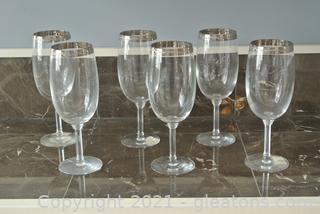 Lenox Platinum Crystal Beverage Glasses (Lot of 6)