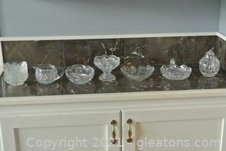 Cut Glass Serving Pieces (Lot of 12)
