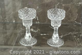 Tyrone Crystal Candlesticks (Lot of 2)