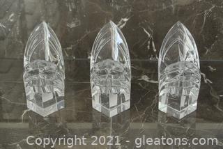 Mikasa Crystal Candlesticks (Lot of 3)