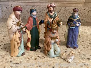 Partial Vintage Nativity Set