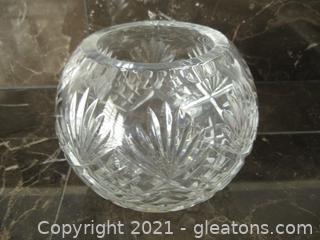 Small Cut Crystal Rose Bowl
