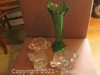 4 Piece Glassware Collection