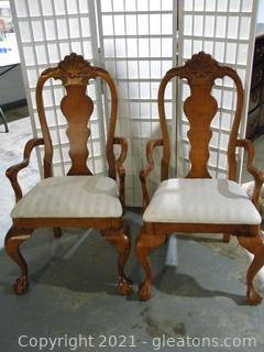 Set of 2 Dining Arm Chairs