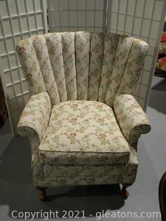 Floral Upholstered Arm Chair