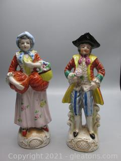 Courting Couple - Hand Painted in Japan