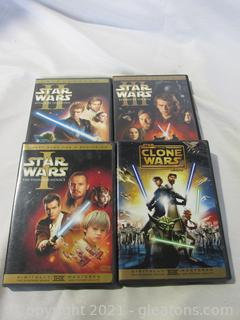 4 Star Wars DVD's