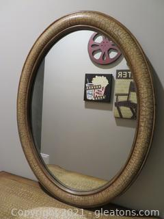Handpainted Stein World Oval Mirror