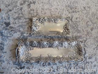 Lot of Two Arthur Court Trays