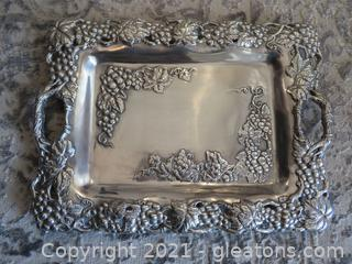 Stunning Arthur Court Grape Clutch Tray