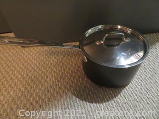 Classic All Clad Stainless Steel 4 Qt Saucepan