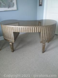 Hooker Melange Fluted Kidney Desk