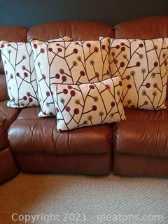 Custom Made Twizzler Fabric Pillows with Matching Cornice (Cornice Not in First Picture)