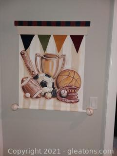 Custom Sports Wall Hanging