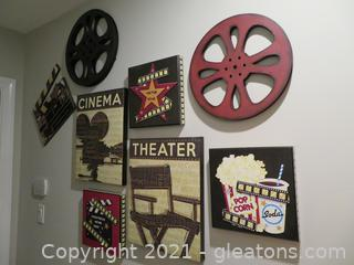 Fun Movie Wall Art- Lot of 8 Pieces
