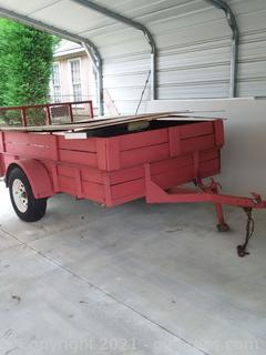 8' X 5' Homemade Trailer