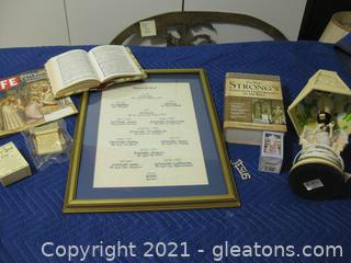 """7+ Piece Faith Lot, Featuring a """"Names of God"""" Wall Hanging (15.5"""" x 21.5"""")"""