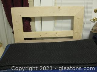 Twin Bed With White Pine Headboard with Mattress and Box Springs , and Frame