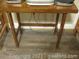 Handcrafted Dark Oak Table