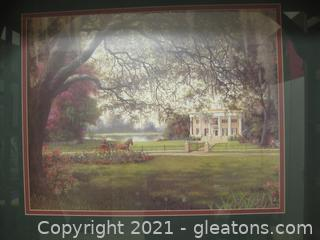 Beautifully Framed and Matted Landscape, Vivid Colors, Untitled