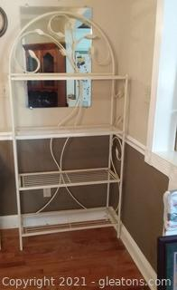 4 Shelf Iron Baker's Rack-Vine Design