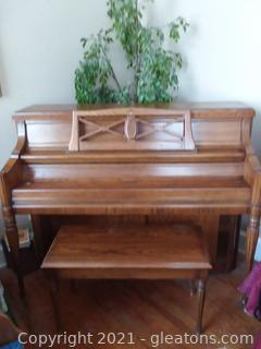 Chickering Model 4514 Upright Piano with Bench