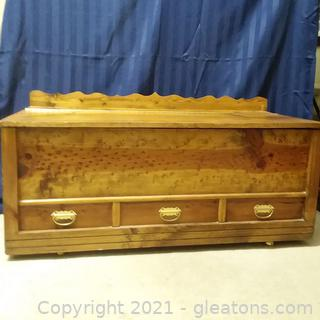 Beautiful  Handcrafted Trunk (Contents Not Included)