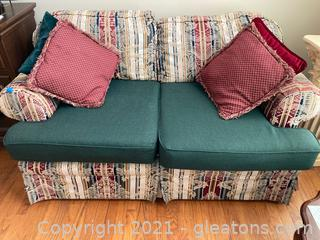 Comfy Rolled Arm Love Seat