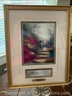 """Thomas Kinkade """"Garden of Promise"""" Print"""