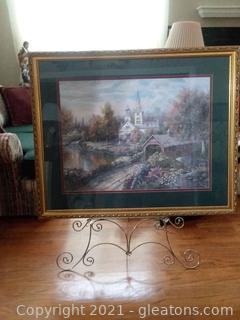 Beautifully Framed Carl Valente Maple Creek Art Print